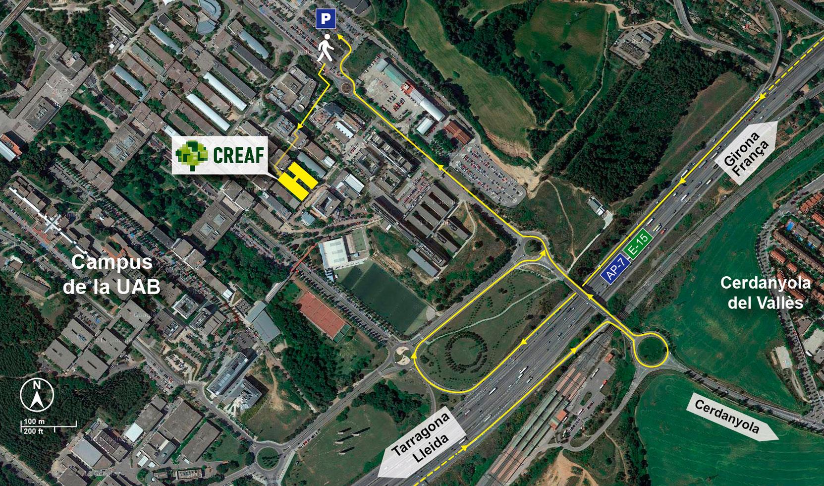 Mapa CREAF AP-7 / E-15