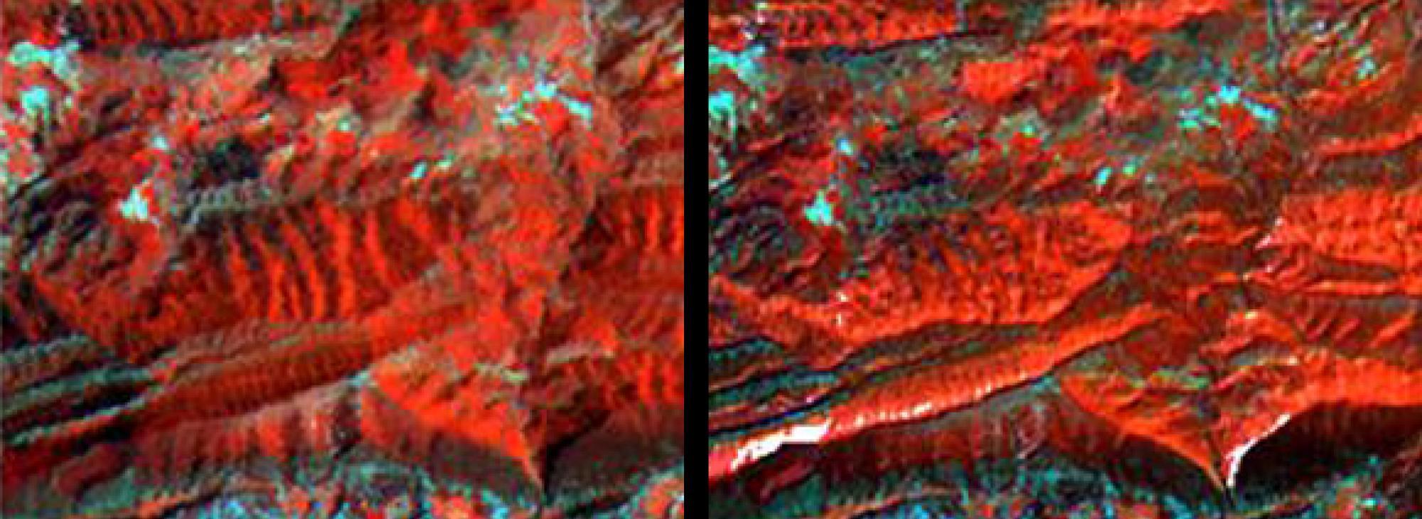 Correccions geomètriques i radiomètriques d'imatges de satèl·lit